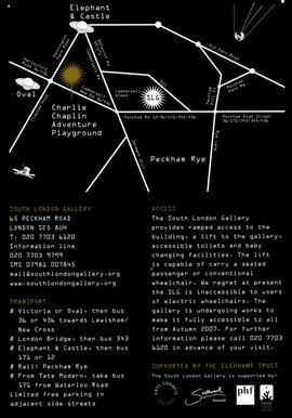 The Mothership Collective: leaflet, back