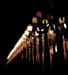Chris Burden: 14 Magnolia Double Lamps: invitation, front