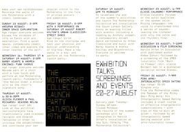 The Mothership Collective: leaflet, inside pages 5 and 6