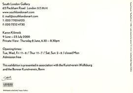 Karen Kilimnik: private view invitation, front