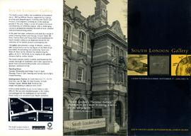 Exhibition programme leaflet, September 1997 to January 1998, front