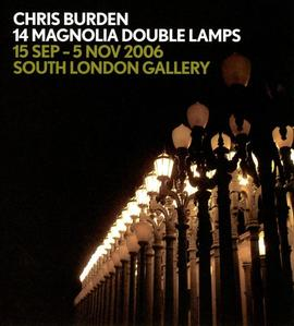 Chris Burden: 14 Magnolia Double Lamps: flyer, back