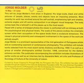 Exhibition programme leaflet, June to September 1998, inside left flap