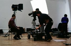 Anish Kapoor (filming in the gallery), 1994, slide 1