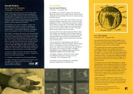 Exhibition programme leaflet, September 1997 to January 1998, back