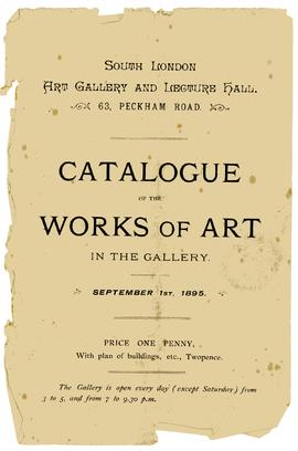 Catalogue of works of art, 1895, page 1