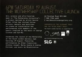 The Mothership Collective: invitation, front