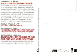 Artists' Projects: Sixty Seven: card, back