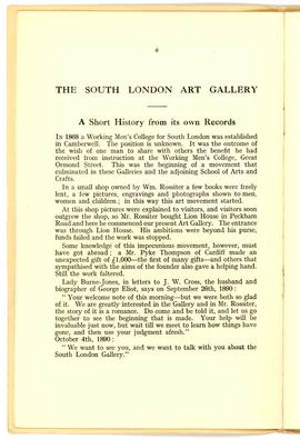 Camberwell Past and Present, 1938, page 6