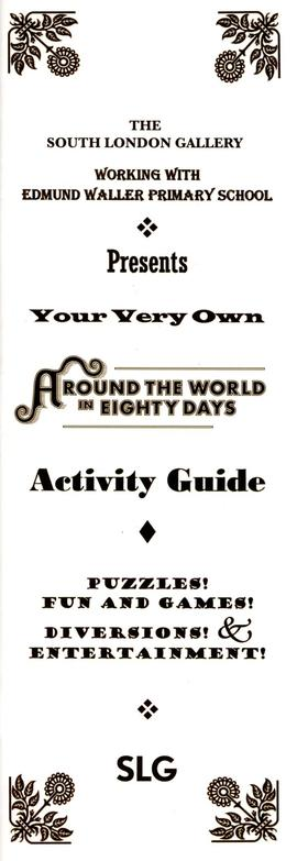 Around the World in Eighty Days: activity guide, front