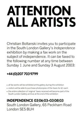 Call for participation (Independence)