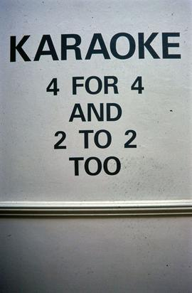 Exhibition: Karaoke, 1995, slide 1