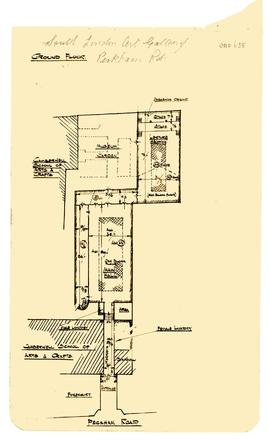A floorplan of the South London Fine Art Gallery