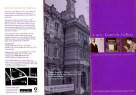 Exhibition programme leaflet, May to August 1997, front