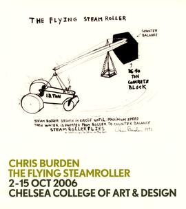Chris Burden: leaflet, back page 1