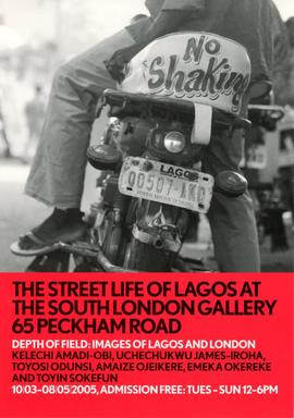 Depth of Field: Images of Lagos and London: flyer, front