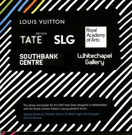 Louis Vuitton Young Arts Project film (DVD) case, back
