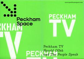 Peckham TV fold-out poster, top