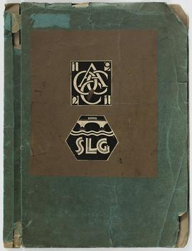 Book cover with logos