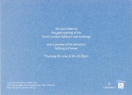 Gala opening of the SLG's new buildings: invitation, inside text