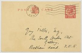 Letter from Mrs G.C. Hodsdon, envelope