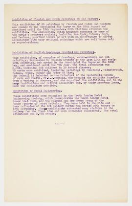 Information about exhibitions, 1951, page 2