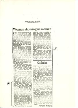 Women & Work: Request for Press Cuttings, 3