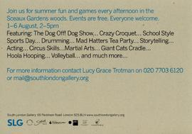 'So Sceaux Summer Games Festival' flyer, back