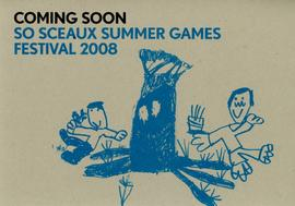 'So Sceaux Summer Games Festival' flyer, front