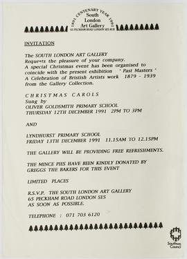 Visitor Attendance Book: Christmas Carols flyer