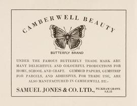 Local Industries Exhibition Catalogue, Samuel Jones advert