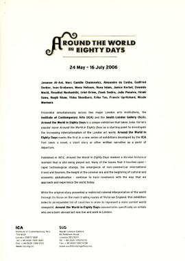 Around the World in Eighty Days Press Release, page 1