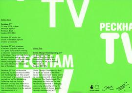 Peckham TV fold-out poster, bottom