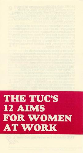 TUC Pamphlet, front cover