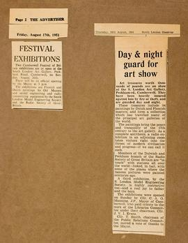 Press cuttings: Festival of Britain exhibitions