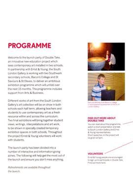 Double Take project leaflet, page 1