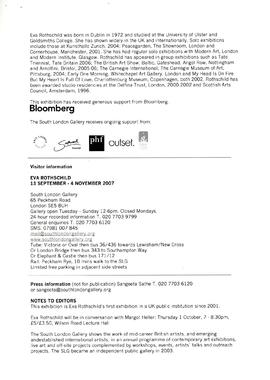 Eva Rothschild Press Release, page 2