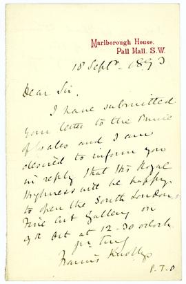 Letter from Francis Knollys, page  1