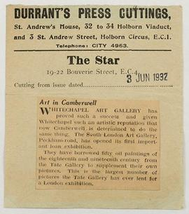 South London Group: Press Cutting (The Star)