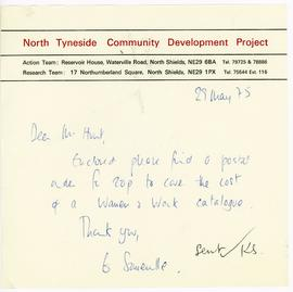 Letter from North Tyneside Community Development Project