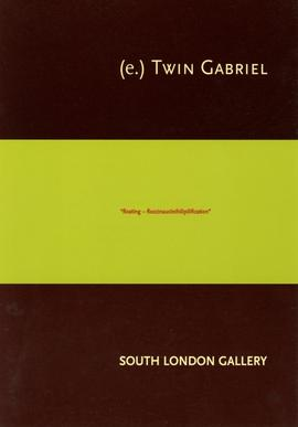 (e.)Twin Gabriel invitation to opening, front