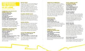 Camberwell Arts Festival 2010 guide, SLG events