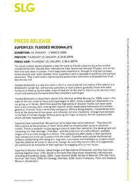 Superflex: Flooded McDonalds Press Release, page 1