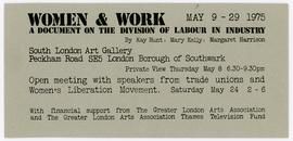 Women & Work: Promotional Card, front