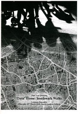 'Goin' Home: Southwark Walks' programme, front cover