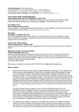 Beyond These Walls Press Release, page 2