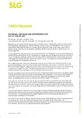 The Weasel Press Release, page 1