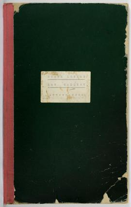 Visitor Attendance Book, front cover