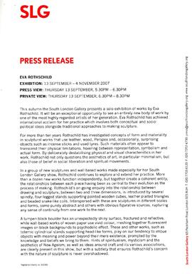 Eva Rothschild Press Release, page 1