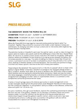 Tue Greenfort Press Release, page 1